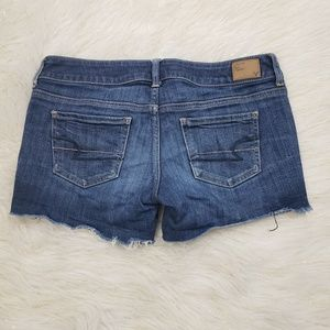 American Eagle Outfitters Shorts - AEO Sz 4 Raw Hem Stretch Jean Shorts